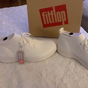 FitFlop ÜBERKNIT Slip-On High-Top Sneakers White 9